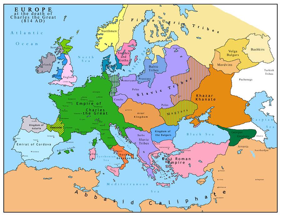 9. Asır Haritası