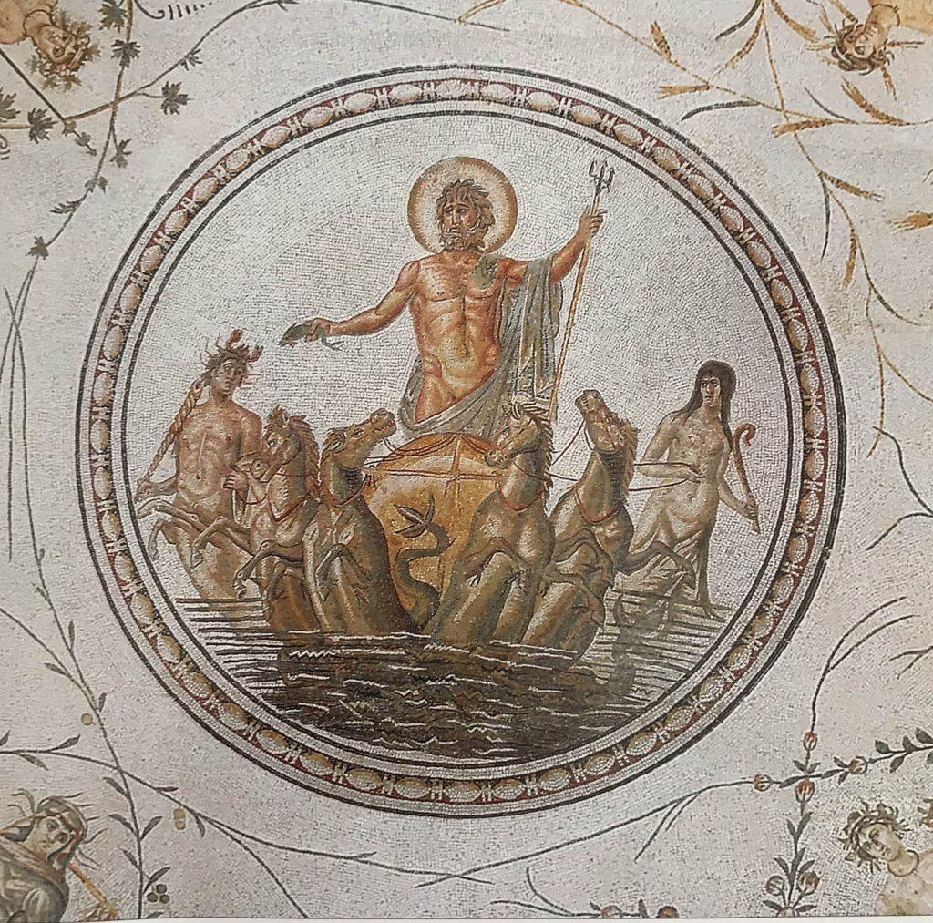 Tunus Bardo Müzesindeki Roma dönemi mozaikleri