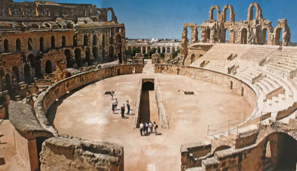 Tunus, El Jem Amfi tiyatrosu