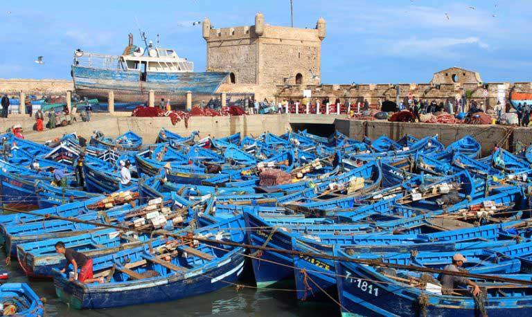 Essavira balık tekneleri