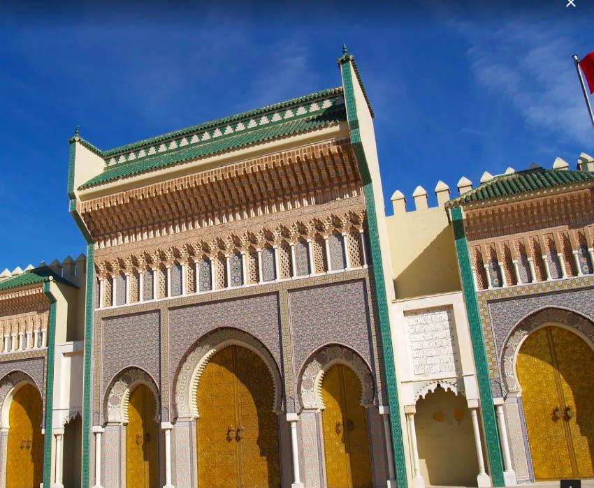 Fes el Cedid'in sarayının kapısı
