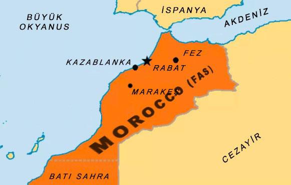 Morocco Fas Haritası