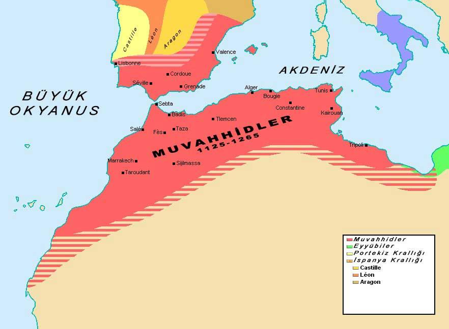 Muvahhidler, 1125- 1265