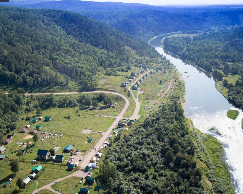 Ural Dağları İçinde Burzan Bölgesinde Konaklama yerleri
