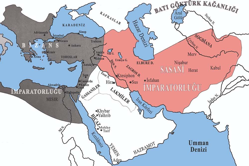 6. yüzyılda Sasani İmparatorluğu
