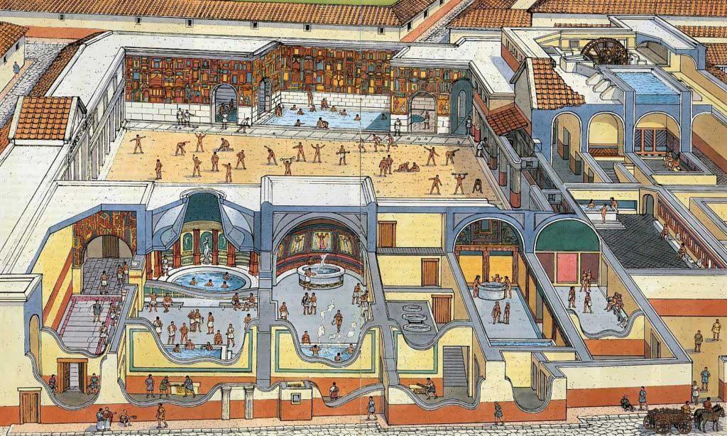 Antik Roma'da bir hamam sefası
