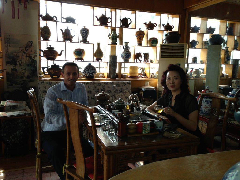 Çin'de Bir Çay Mağazası