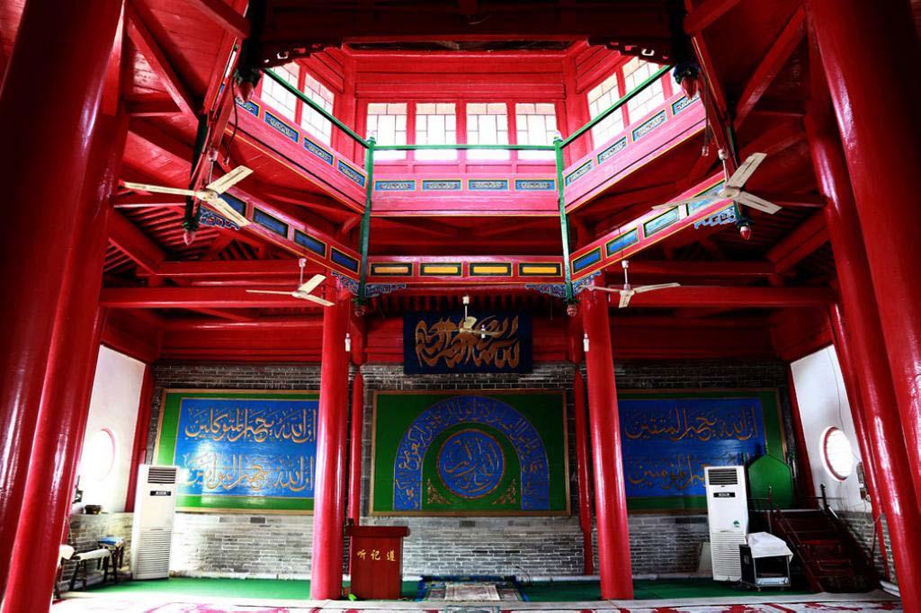 Cnagzhou Cami iç kısmı ve kubbesi