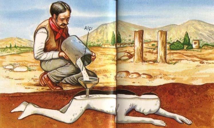 Pompei'de küllerin altındaki cesetlerin alçı ile çıkarılması