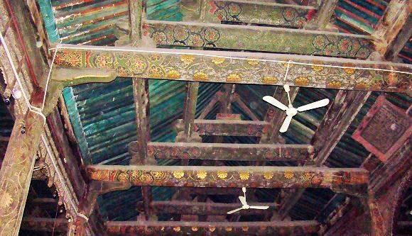 Taiyuen – Çin de 785 yılında yapılan caminin iç kısmı.