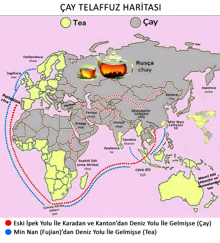 Çay Telaffuz Haritası